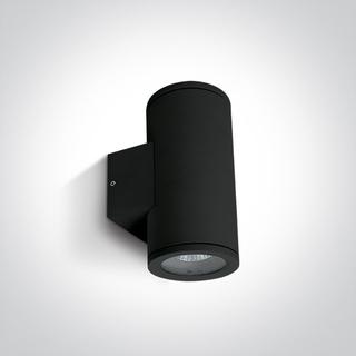 Vägglampa Svart GU10 IP54 för Led Dubbel