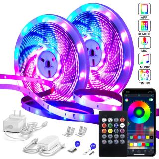 Led strip set 15m RGB app fjärr mic
