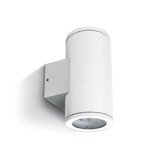 Vägglampa vit GU10 IP54 för Led Dubbel