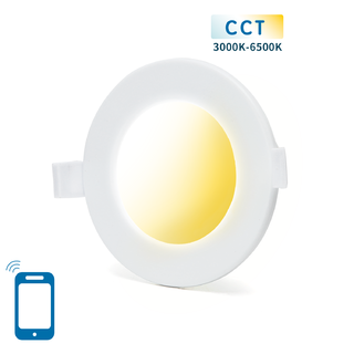 SMART LED SLIM DOWN LIGHT 6W WIFI CCT(3000K-6500K)