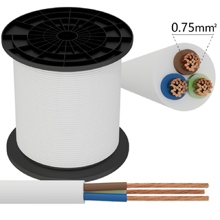 Kabel 3 x 0,75 mm² vit