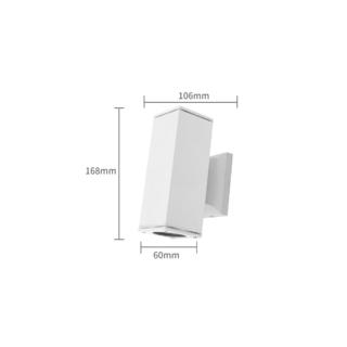 Vägglampa Vit GU10 för Led Dubbel