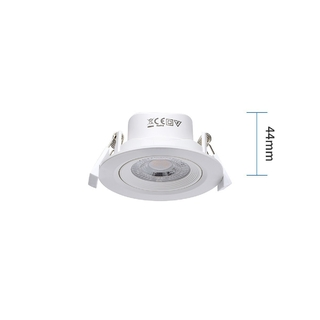 LED 7 W Downlight 6500K kallvit
