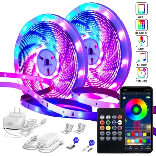 Led strip set 25m RGB app fjärr mic