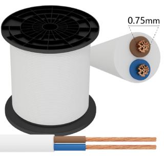Kabel 2 x 0,75 mm² vit