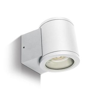 Vägglampa vit GU10 IP54 för Led