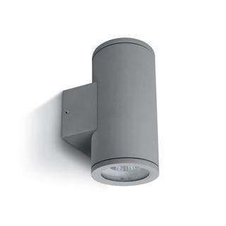 Vägglampa Grå GU10 IP54 för Led Dubbel